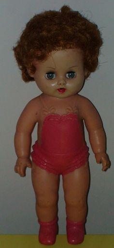 Vintage Rubber Dree Me Dee Doll Sun Rubber 1950s Htf