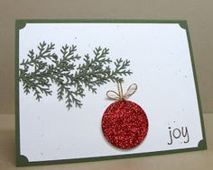 The polka dot spot: A few cards using the Martha Stewart branch punch.use glitter paper for 1 circle punch tie bow and hanger with gold string hang from branch Homemade Christmas Cards, Christmas Cards To Make, Xmas Cards, Homemade Cards, Handmade Christmas, Christmas Crafts, Greeting Cards, Christmas Tree, Beach Christmas