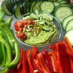 "Cilantro Jalapeno Hummus | ""The cilantro is so refreshing! Add more jalapeno if you like a kick!"""