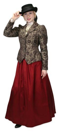 Ruby Taffeta Skirt