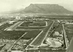 Argus of Milnerton racecourse shows the 1 400 metres straight in the foreground, the round course with the near and far bends in the middle Old Pictures, Old Photos, Cape Town South Africa, Kruger National Park, Antique Maps, City Photo, Country Roads, Explore, History