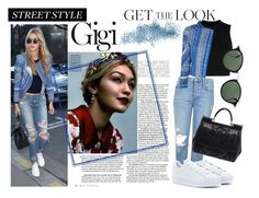 """""""Gigi Hadid street style"""" by assia97 ❤ liked on Polyvore featuring moda, Topshop, Marc Jacobs, Wood Wood, IRO, adidas Originals, Dolce&Gabbana, Ray-Ban, GetTheLook y StreetStyle"""