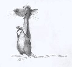 Pixar Drawing Living Lines Library: Ratatouille - Concept Art - (Collection of animated lines) Cartoon Rat, Cartoon Drawings, Cute Drawings, Animal Sketches, Animal Drawings, Art Sketches, Pencil Drawings, Disney Kunst, Disney Art