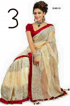 Fashion Fair New Designer Beige Net Partywear Wedding Saree Sari Designer Saree Blouses, Latest Designer Sarees, Latest Sarees, Net Saree, Silk Sarees, Saris, Lehenga Choli, Indian Sarees, Pakistani