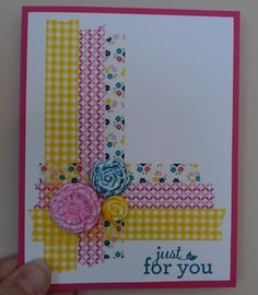 Karina's Kreations: Karen's Washi Tape Swap Card!