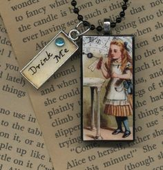 Alice in Wonderland quotes charm... Comes with 15 interchangeable quotes. I WANT.