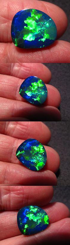 Doublets 10240: Blazing Bright Emerald Green Color Lightning Ridge Opal Doublet Jigsaw Pattern -> BUY IT NOW ONLY: $175 on eBay!