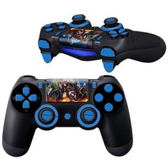 Avengers Age of Ultron controller full buttons kit skin for PlayStation 4 Controllers Playstation Logo, Playstation 4 Console, Video Games Xbox, Ps4 Games, Games Consoles, Control Ps4, Xbox One Skin, Pokemon, Ps4 Skins