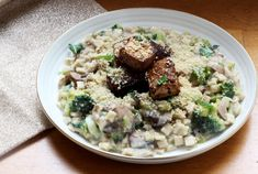 Crozets aux champignons légumes verts et sauce fauxmagère