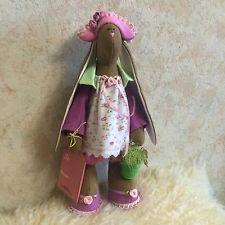 Niedlicher Hase, Tilda-Art Puppe, Handarbeit *shabby*