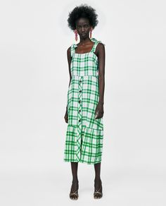 ZARA - WOMAN - CHECKERED DRESS WITH BUTTONS