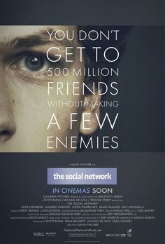 The Social Network.  2010.  I like the real focus on his eye in this.  It draws you in.