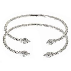 Twisted Ends w. Soft Point .925 Sterling Silver West Indian BABY Bangles