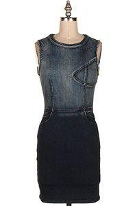 SLEEVELESS DENIM BODYCON DRESS 13T-JD0305-2 Denim Bodycon Dress, Black, Dresses, Fashion, Vestidos, Moda, Black People, Fashion Styles, Dress