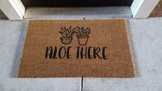Aloe Plant Doormat | Succulent | Pun Doormat | Funny Decor | Punny Decor | Welcome Mat | Gardening Decor| Aloe There |Plants