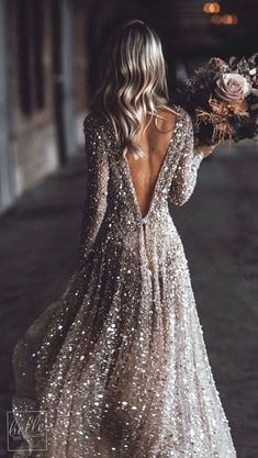 Sparkly A-Line Round Neck Long Sleeves Long Prom Dresses With Source by uppromdress Wedding Dress Trends, Country Wedding Dresses, Gorgeous Wedding Dress, Princess Wedding Dresses, Best Wedding Dresses, Bridal Dresses, Prom Dresses Long With Sleeves, Unique Prom Dresses, Ball Dresses
