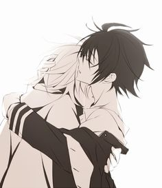 Yuu and Mika - Owari no Seraph