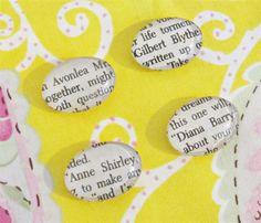 Anne of Green Gables Magnet Set of Four Glass Cabochon Literature Gilbert Blythe | Domum Vindemia | www.madeit.com.au/DomumVindemia