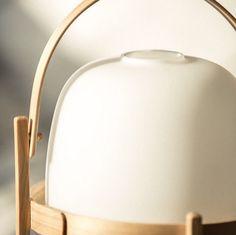 CESTITA designed by Miguel Milá in 1961.A handmade lantern. Picture by Carlos Pericás #lighting #tablelamp #excitewithsimplicity #wood #MiguelMila #santacole #cestalamp #design #cestita