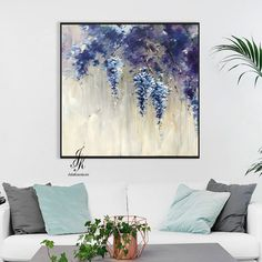 Flower Painting Original Acrylic Abstract Painting On Canvas by Julia Kotenko