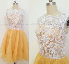 Tutu Tulle Lace Bridesmaid Dresses,Lace Short Prom Dresses,White Bridesmaid Dress/Homecoming Dress 2015 New Arrive