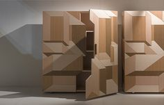 Swedish design group Front has created the Inlay Furniture Collection in collaboration with Italian brand Porro. The design of the furniture collection is Modular Furniture, Design Furniture, Wood Furniture, Modern Furniture, Furniture Ideas, Rustic Design, Wood Design, Oak Cupboard, Wood Parquet