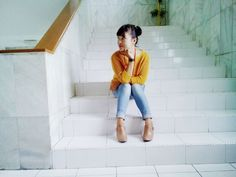 sweater and ankle boots