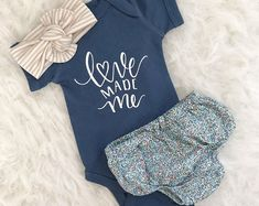 Bodysuit only Love made me Newborn bodysuit Baby Girl coming home outfit baby girl baby girl Newborn baby girl hello world baby show Baby Outfits, Cute Babies, Baby Kids, Girls Coming Home Outfit, Newborn Coming Home Outfit, Junior, Cute Baby Clothes, Baby Clothes For Girls, Baby Girl Items