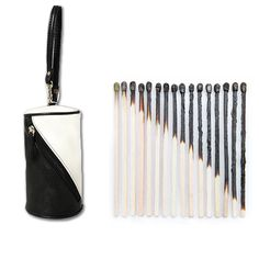Taking inspiration from half burnt match sticks & the monochrome effect it lends, the designers at Baggit have crafted this #pouch. #Baggit #monochrome #inspiration