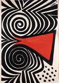 Artwork by Alexander Calder, Red nose … Alexander Calder, Abstract Pattern, Abstract Art, Atelier Theme, Mid Century Art, Red Nose, Graphic, American Art, Modern Art
