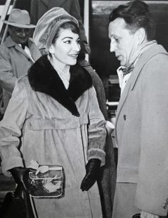 This press image captures Maria Callas and Favre Le Bret of the Paris Opera House in 1958.
