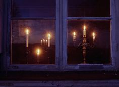 Candlesticks in the window....
