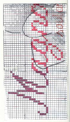 Cross stitch - flowers: Magnolia - bookmark II (chart - part B)