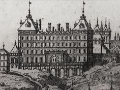 (1) View of Warsaw from the Vistula River (detail) by Nicolas Pérelle after Erik Dahlbergh, 1696, National Museum in Warsaw. Panorama of Warsaw as seen from the Praga bank in about 1656. Fragment with Kazanowski Palace (Radziejowski Palace), (2-4) Remnants of the Kazanowski Palace in Warsaw. #17thcentury #mannerism #artinpl #architecture Commonwealth, Warsaw, National Museum, 17th Century, Big Ben, Palace, Polish, River, Detail