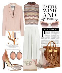 """""""Desert Pink"""" by ropastyle on Polyvore featuring Glamorous, Iris & Ink, Larkspur & Hawk, Francesco Russo, Sophie Hulme, Miu Miu, Mulberry, Johnstons of Elgin, women's clothing and women"""