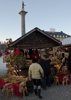 Christmas market in Trondheim, Norway I dream to be dhere once in my life with christmas