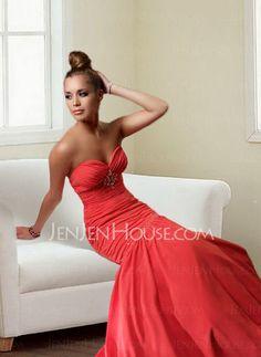 Evening Dresses - $129.99 - Fascinating A-Line/Princess Sweetheart Floor-Length Taffeta Evening Dresses With Ruffle Beading (017004163) jenjenhouse.com