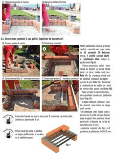 Cum se construieste un gratar din caramida? Bbq Grill Diy, Outdoor Barbeque, Brick Bbq, Brick Construction, Firewood, Crafts, Photos, House, Brick Built Bbq