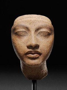 """amare-habeo:  """"Head of a Queen  Ancient Egypt: Amenhotep (Amenophis) IV / Akhenaten, ca. 1400 -1300 BCE  """""""