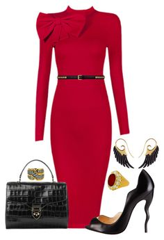 """""""Georgia"""" by angiemine213 ❤ liked on Polyvore featuring Posh Girl, Christian Louboutin, Aspinal of London, Yves Saint Laurent, Noor Fares and Valentin Magro"""