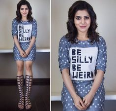 Samantha Prabhu is rather busy these days with A Aa movie promotions. Here are her top 5 looks from the A Aa promotions and we bet, like us, you too will love them all. Samantha Images, Samantha Ruth, South Actress, South Indian Actress, Daily Fashion, Girl Fashion, Fashion Outfits, Latest Tops, Beautiful Bollywood Actress