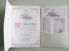 Fairytale Wedding Invitation Packet on Etsy, $4.95