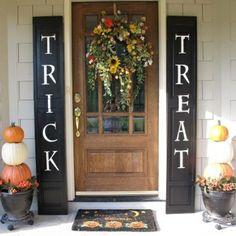 Halloween curb appeal - Trick/Treat shutters/panels