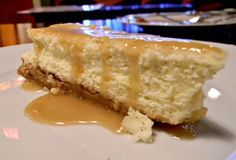 Ricotta Cheesecake Drizzled in Maple Syrup at Il Gallo Giallo Wine Bar in New Paltz, NY