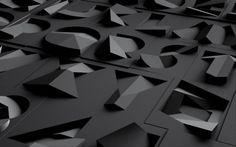 folded font