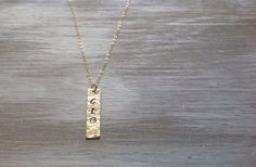 Personalized Gold Bar necklace by niccoletti® on Etsy.