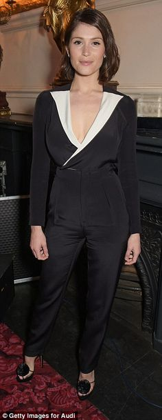 Contrasting style: Gemma wore a conservative black jumpsuit, while Hannah - who recently s...