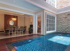 Small Swimming Pools, Luxury Swimming Pools, Swimming Pool Designs, Dream Home Design, My Dream Home, Home Interior Design, House Design, Kleiner Pool Design, Bungalow Haus Design