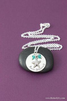 Personalized Starfish Necklace | Beach Jewelry| Destination Wedding