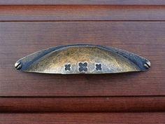 Dresser Drawer Pulls Handles Knobs Cabinet Knob Metal Shell Cup / Retro Kitchen…